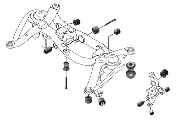 saab suspension diagram