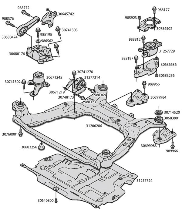 2002 volvo s60 strut mount diagram