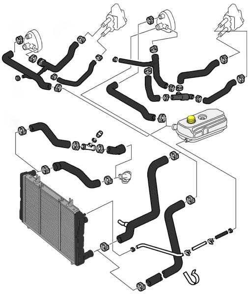 1992 Saab 900 Transmission: Service Manual [1993 Saab 900 Coolant Reservoir Removal