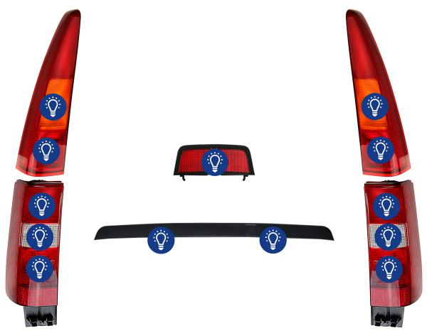 Volvo 850: Overview rear lamps