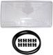 Lichtscheibe, Hauptscheinwerfer links ohne Nebelscheinwerfer 3534175 (1003776) - Volvo 700