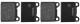 Bremsbelagsatz Hinterachse System ATE 31261185 (1003885) - Volvo 140, 164, 200, 700, 900