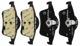 Brake pad set Rear axle 30648382 (1004724) - Volvo S60 (-2009), S70, S80 (-2006), V70 (-2000), V70 P26, V70 XC (-2000), XC70 (2001-2007)