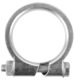 Pipe clamp, exhaust system 42 mm Steel  (1006875) - universal