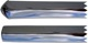 Trim moulding, Sidewall rear fits left and right 657264 (1008275) - Volvo 120 130