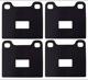Shims, Brake pads Sheet steel rubber coated Kit for both sides  (1008691) - Volvo 140, 164, 200, 700, 850, 900, C70 (-2005), P1800, P1800ES, S70 V70 (-2000)
