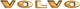 Buchstabensatz Motorhaube gold 276377 (1009398) - Volvo 120 130 220