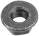 Nut with Collar with metric Thread M6 Zinc-coated
