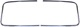 Zierleiste, Verglasung Frontscheibe verchromt Satz für beide Seiten  (1010546) - Volvo PV P210