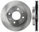 Brake disc Front axle internally vented 30872926 (1011706) - Volvo S40 V40 (-2004)