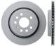 Brake disc Rear axle vented 12762291 (1013222) - Saab 9-3 (2003-)