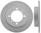 Brake disc Rear axle perforated Sport Brake disc 30872940 (1013369) - Volvo S40 V40 (-2004)
