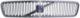 Kühlergitter mit Strebe mit Emblem 8678680 (1013465) - Volvo V50