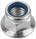 Lock nut with plastic-insert with Collar M12x1,75 Zinc-coated  (1017151) - universal