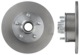 Brake disc Front axle non vented 666525 (1017348) - Volvo 120 130, 220, P1800