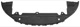 Air guide Bumper front 30655172 (1017575) - Volvo S80 (2007-), V70 (2008-)