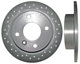 Brake disc Rear axle perforated Sport Brake disc 3450386 (1017724) - Volvo 400