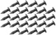 Bodywork nail Kit 26 Pcs  (1018199) - universal Classic