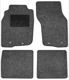 Floor accessory mats Needle felt black-grey  (1019103) - Volvo S40 V40 (-2004)