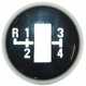 Symbol, Shift knob cap 1220494 (1020749) - Volvo 164, 200