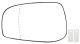 Mirror glass, Outside mirror Driver side 30634719 (1020851) - Volvo S60 (-2009), S80 (-2006), V70 P26, XC70 (2001-2007)