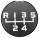 Symbol, Shift knob cap 1209361 (1021118) - Volvo 200, 300, 700, 900