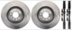 Brake disc Front axle Kit for both sides 93188445 (1022468) - Saab 9-3 (2003-)