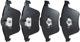 Brake pad set Front axle 30742029 (1026245) - Volvo C70 (2006-), S40 V50 (2004-), V40 (2013-), V40 XC