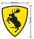 Aufkleber Ferrari-Elch