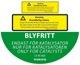 Hinweisschild BLYFRITT Nur für Katalysatoren Benzinkanister  (1032858) - Volvo universal