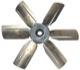Fan wheel, radiator 1277799 (1033735) - Volvo 140, 164, 200