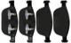 Brake pad set Front axle  (1034191) - Volvo XC60 (-2017), XC90 (-2014)