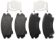 Brake pad set Front axle 13237751 (1036801) - Saab 9-5 (2010-)