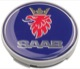 Wheel Center Cap grey blue for Genuine Light alloy rims Piece 12775052 (1038663) - Saab 9-3 (2003-), 9-5 (-2010)