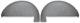Bezug, Innenverkleidung Radhaus Satz  (1041713) - Volvo P210