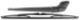 Wiper arm, Windscreen washer for Rear window Kit  (1042801) - Volvo V40 (-2004)