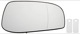 Mirror glass, Outside mirror right 30634722 (1045074) - Volvo S60 (-2009), S80 (-2006), V70 P26, XC70 (2001-2007)