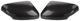 Cover, Outside mirror Carbon Look black Upgrade kit for both sides  (1047515) - Volvo C70 (2006-), S40 V50 (2004-)