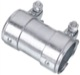 Pipe connector, Exhaust system Double clamp 42 mm 100 mm Steel  (1047880) - universal