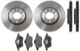 Brake disc Front axle internally vented Kit for both sides  (1048071) - Saab 9-3 (-2003), 9-5 (-2010), 900 (1994-)
