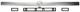 Dekorpanel, Koffer-/ Laderaumklappe silber 12778844 (1049620) - Saab 9-3 (2003-)