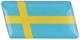 1050919 Label Swedish flag