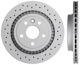 Brake disc Rear axle perforated/ internally vented 31277357 (1052094) - Volvo XC60