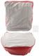 Bezug, Polster Vordersitze Sitzfläche Rückenlehne rot-grau Satz für einen Sitz  (1054961) - Volvo PV