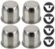 Wheel Center Cap stainless Kit  (1055501) - Volvo 120 130 220, P1800, PV