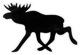 Aufkleber Elch schwarz-weiß  (1055523) - universal