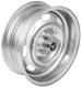 Felge Stahl 5,5x15 ET10 Kronprinz-Design mit Nabenabdeckung Edelstahl mit Radmutter 613014 (1055579) - Volvo 120 130 220, P1800, PV