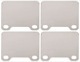 Shims, Brake pads Stainless steel Kit for both sides  (1055633) - Volvo 140, 164, 200, 700, 850, 900, C70 (-2005), P1800, P1800ES, S70 V70 (-2000)