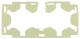 Rubber insert, Cup holder Centre console fluorescent  (1057145) - Volvo S60 (2011-2018), V60 (2011-2018), XC60 (-2017)