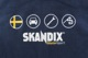 Fleecejacke SKANDIX Motorsport M blau